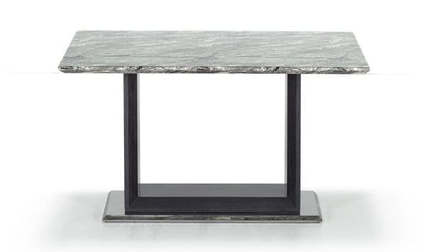 Guastalla High Gloss Marble With Polished Metal Rectangle 120cm Dining Table 218VD350
